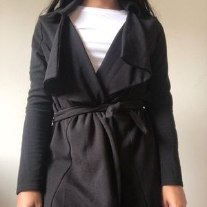 Boohoo Black Trench/Duster Jacket